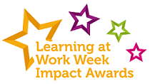 Learning at Work Week Impact Awards logo, which consists of four different coloured stars