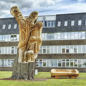 Open University tree carving